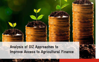 Analysis of GIZ Approaches to Improve Access to Agricultural Finance